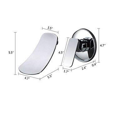 North America Bathroom Sink Faucet - Waterfall Wall Mount Chrome Chrome Chrome Wall Mounted Single Handle Two Holes 6c5ebd
