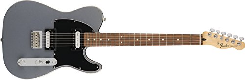 Fender Standard Telecaster Electric Guitar - HH - Pau Ferro Fingerboard, Ghost Silver Deluxe Active Precision Bass