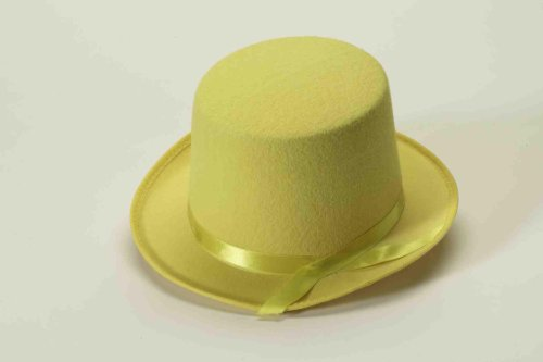 Forum Novelties Men's Deluxe Adult Novelty Top Hat, Yellow, One Size (The Man In The Yellow Hat Costume)