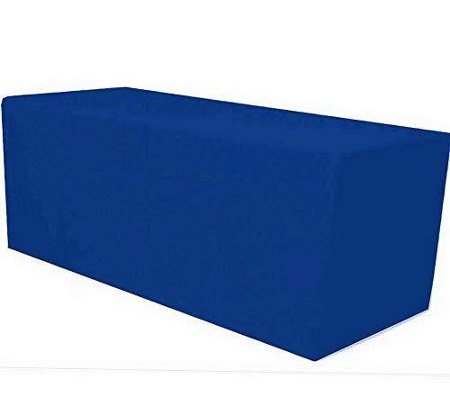 (Mikash 4 ft. x 2.5 ft. Fitted Polyester Tablecloth for Wedding Banquet Royal Blue | Model TBLCLTH - 83 )