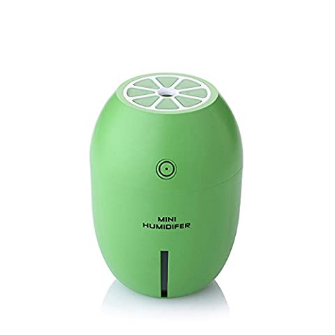 Lemon Humidifier,YCTA 180ML Portable Cool Mist Mini Ultrasonic USB Air Humidifier Bedroom Purifier for Home Car Travel Office Baby (Baby Humidifier Air Purifier)