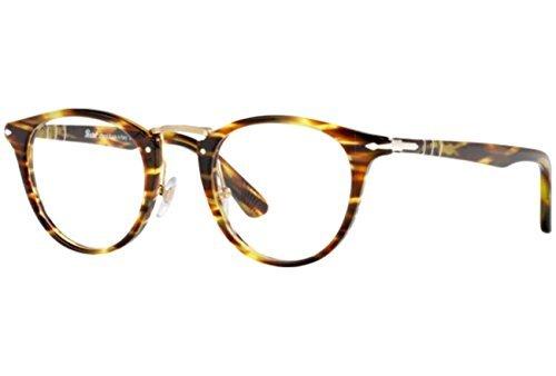 Persol Montures de lunettes 3107 Pour Homme Striped Beige, 47mm 938