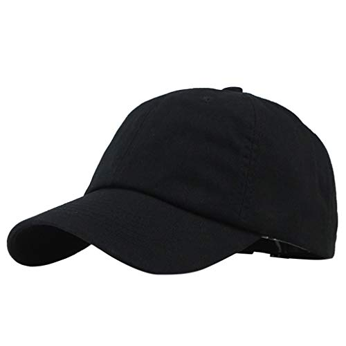 Qisc_Baseball Hats Baseball Dad Cap Adjustable Size Perfect for Running Workouts and Outdoor Activities Black