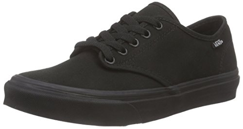 Stripe black black Noir canvas Camden Baskets Vans Basses Femme fOqxaw
