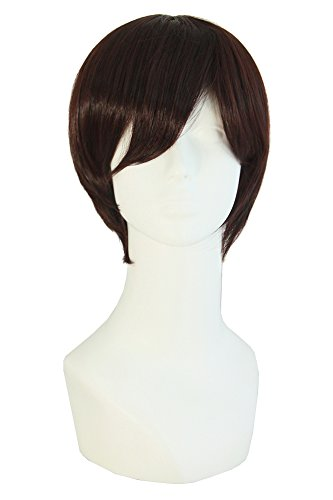 [MapofBeauty Fashion Men's Short Straight Wig (Dark Brown)] (Wigs For Mens)