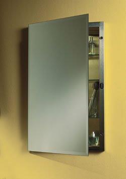 Jensen 1448 Galena Frameless Medicine Cabinet with Beveled Mirror, 16-Inch by 26-Inch