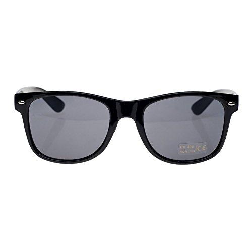 4sold Lunettes nbsp;Marque ou Lunettes Soleil New Noir de Unisexe Soleil UV400 Noir Miroir de Objectif rFAUr