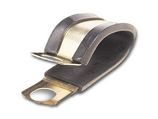 3/4 Inch 2-Tube Cushioned Clamp 3/4 Inch Wide-20Pack
