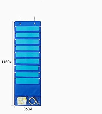 Heavy Duty Fabric Storage Holder Pocket Chart for School Office Home Hanging File organizer for Wall Door Window Closet 10 Pockets