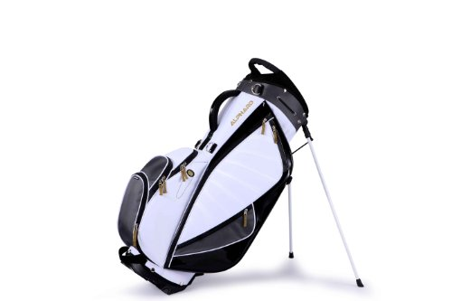 Alphard Golf Agile 14-Way Stand Bag Black/White