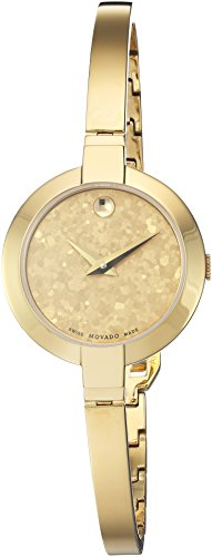 - Movado Women's Swiss-Quartz Watch with Gold-Tone-Stainless-Steel Strap, 5 (Model: 0607018)