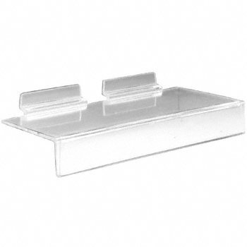 CRL Clear Acrylic 4; x 8; Slatwall Shelf With 1; Price Channel 3331418