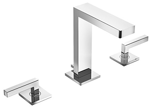 - Symmons Duro Two-Handle 8-16 Inch Widespread Bathroom Faucet with Pop-Up Drain & Lift Rod, Chrome (SLW-3612-1.5)