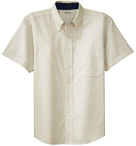 Joe's USA - Men's Short Sleeve Wrinkle Resistant Easy Care Shirts-2XL -