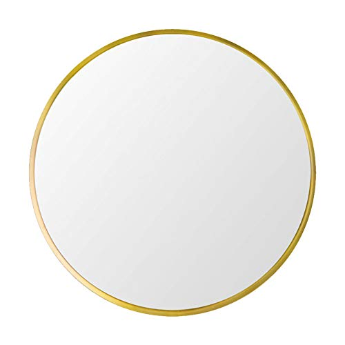 Beauty4U Large Round Metal Frame Mirror, 19.7