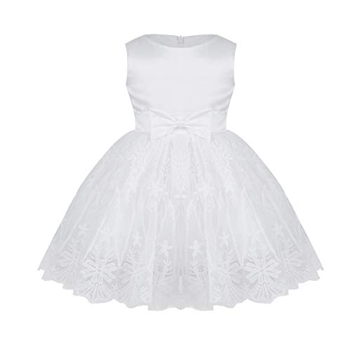 Freebily Infant Baby Flower Girl Dress Baptism Christening Wedding Party Dress Gown Ivory 18-24 -