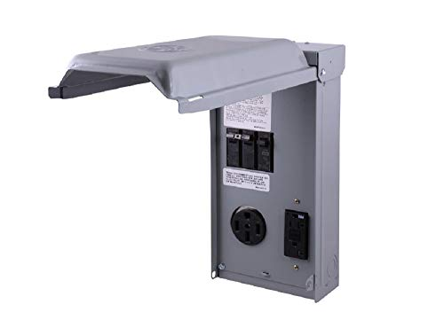 GE RV Outlet Box 70 Amp 120/240 Volt Unmetered with 50 Amp and 20 Amp GCFI Circuit Protected Receptacles