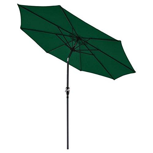 Cheap 9 Foot Outdoor Patio Tilt Umbrella Furniture with a Green Canopy