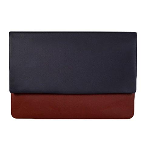 YiJee Macbook Air Pro Funda Cuero de La PU Impermeable para Macbook Air 11.6/13.3 Pulgadas 13 Inch Marrón