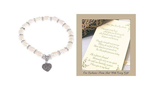 Memorial Gift to Send for Sympathy to a Funeral or Residence of the Grieving I Have You in My Heart Pearl Bracelet