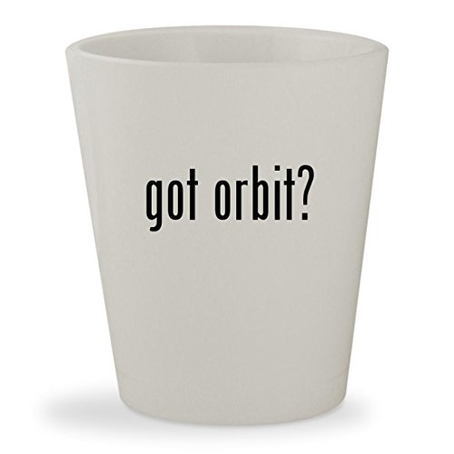 got orbit? - White Ceramic 1.5oz Shot Glass - Wrigleys Orbit White Spearmint