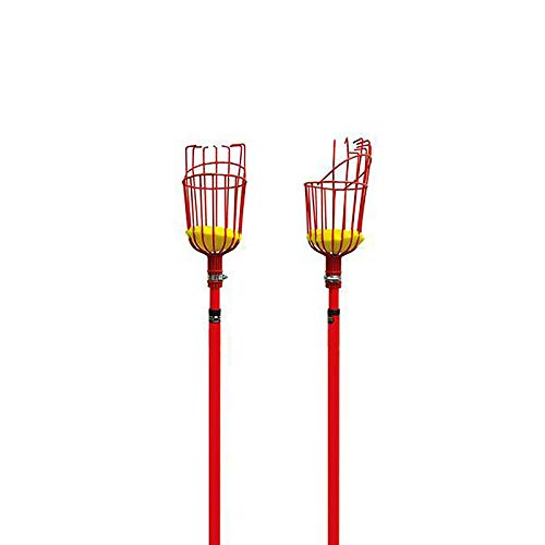 Pole Not Included Gardening,Red Labor Saving Tool Fruits Catcher with Cushion to Prevent Bruising Yugust Fruit Picker Harvester Basket