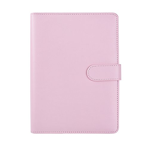 Hardback Cover Shell (Ya Jin A6 Leather Loose Leaf Refill Notebook Binder Planner Replacement Cover Notepad Shell, Pink)