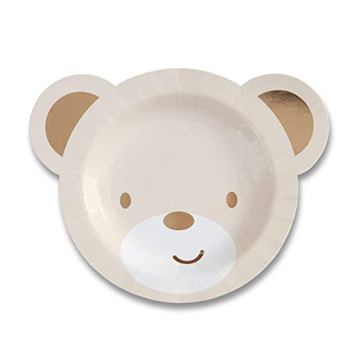- Hatton Gate Teddy Bear Shaped Paper Party Plates 8 Plates per Pack