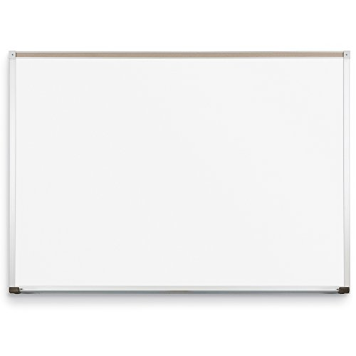 Best-Rite Classroom Deluxe Porcelain Steel Dry Erase Whiteboard, 4 x 16' (202AP-25) by Best-Rite