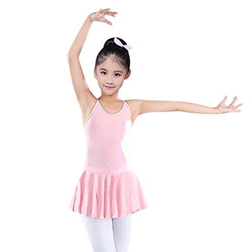 Orangeskycn Dance Dresses for Girls Straps Leotards Ballet