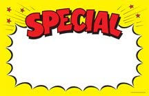 7 x 11 Retail Price Signs Cards Special Burst Red /& Yellow Sale Pack of 100