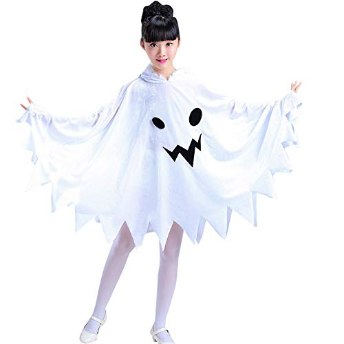 WARMSHOP Kids Toddler Girls Halloween Clothes Cosplay Ghost Costume Dress Party Hoodie Cloak Outwear Cloth (11-13 Years Old, -