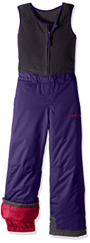 Arctix Kids Limitless Fleece Top Bib Overalls, Purple, 5T