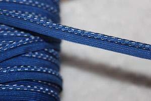 5 Yards Royal Blue Lip Cord Piping Reflective Upholstery Trim 1/8