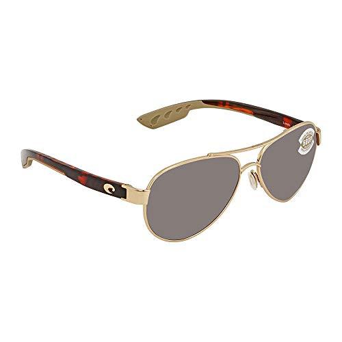 Costa Del Mar LR64OSCP Loreto Sunglass, Rose Gold Silver Mirror (Accessories Rose Silver)