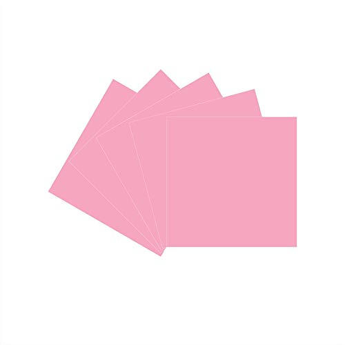 12 x 12 Permanent Vinyl Oracle 651, 5 Packs Soft Pink Indoor, Outdoor Adhesive-Backed Vinyl in Glossy Finish for Silhouette and Cricut to Make Monograms Stickers Decals and Signs (Soft Pink)