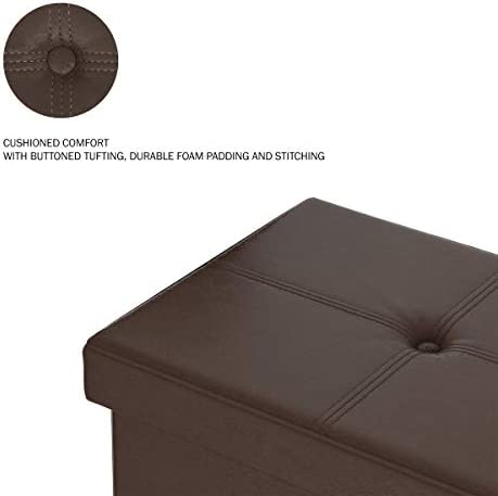 home, kitchen, furniture, accent furniture,  ottomans 8 on sale Lavish Home Large Foldable Storage Bench Ottoman – Tufted deals
