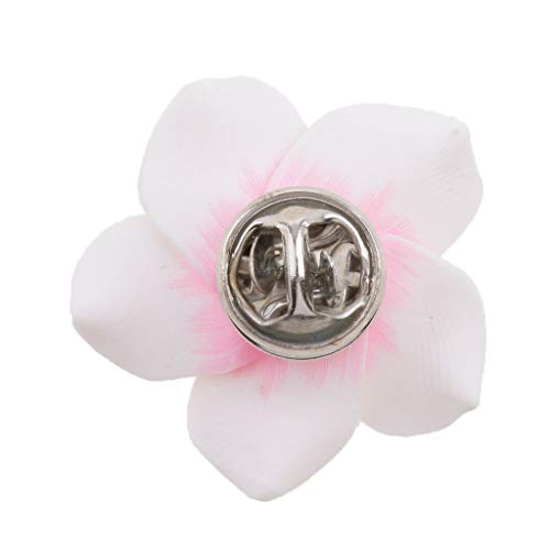 Fashion Bloom Glossy Flower Pin Brooch Women Men Party Wedding Bridal 13Styles (Color - White2) ()