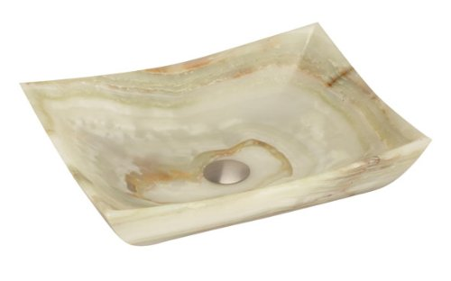 Lenova SV-30 Stone Vessel Bathroom Sink, Green Onyx Onyx Stone Bathroom Vessel Sink