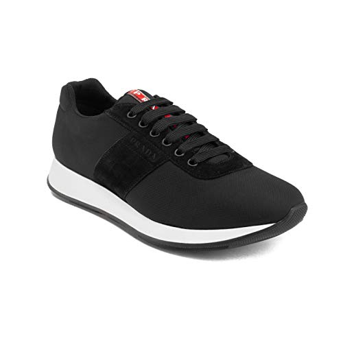 Prada Sneakers Suede - Prada Men's Suede Nylon Low-Top Sneaker Shoes Black