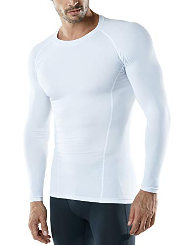 ATHLIO AO-BLS01-KCW_Large Men's (Pack of 3) Cool Dry Compression Long Sleeve Baselayer Athletic Sports T-Shirts Tops BLS01 by ATHLIO (Image #2)