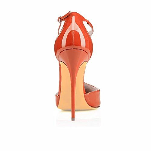 Kolnoo - Pantuflas de caña alta Mujer naranja