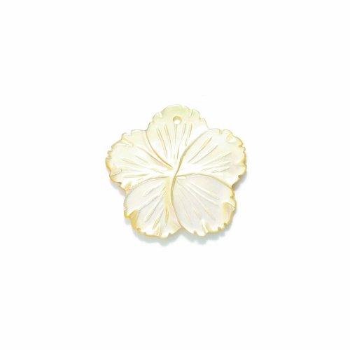 Shipwreck Beads Mother of Pearl Rough Edge Flower Pendants, 27mm Average, (Flower Design Shell Pendant)