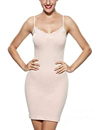 KHAYA Women Full Slip Shapewear Tube Dress Firm Slim Lace Body Shaper