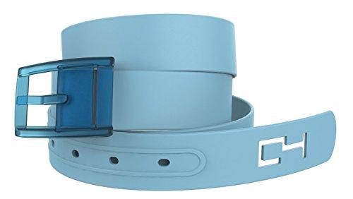 C4 Classic Belt: Baby Blue Strap with Baby Blue Buckle - Fashion Belt - Waist Belt