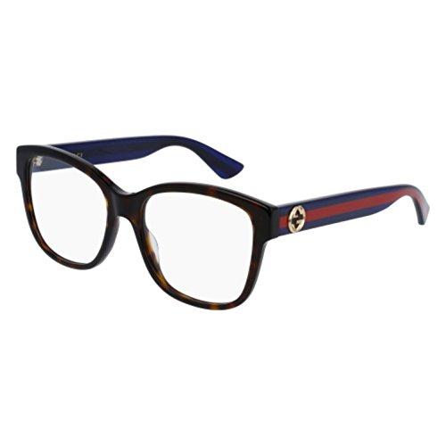 Optical frame Gucci Optyl Dark Havana - Glitter Blue (GG0038O - Gucci Optyl