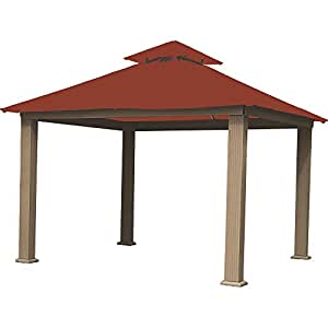 Riverstone Industries Acacia 12ft x 12ft Gazebo Terracotta OutDura Canopy