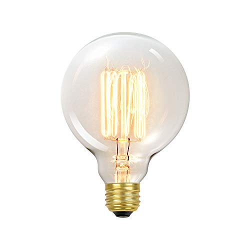 Globe Electric 60W Vintage Edison G30 Vanity Tungsten Incandescent Filament Light Bulb, E26 Standard Base, 245 Lumens 01320