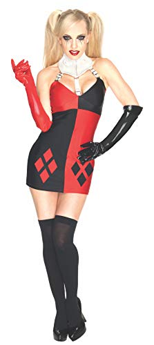 Secret Wishes DC Comics Super Villain Harley Quinn Costume, Red/Black, Large