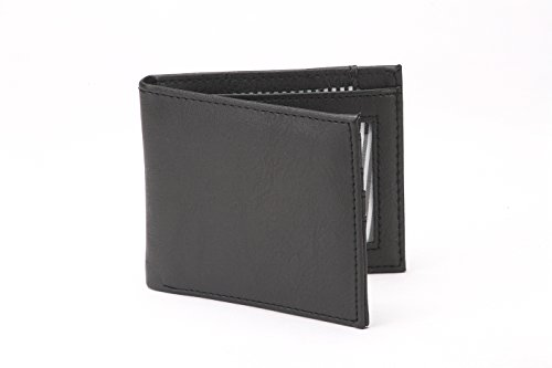 RFID Black Leather The The Wallet Vault Vault Textured Blocking 100 TatznzY